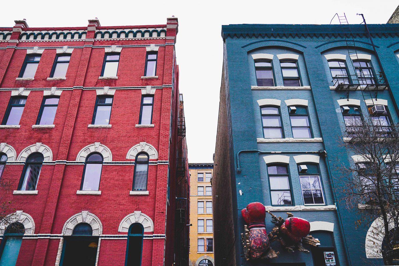 East Exchange, West Exchange, Exchange District, Downtown Winnipeg, Red Building, Blue Building