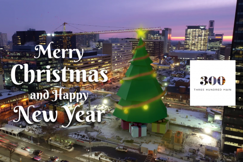 Downtown Winnipeg Apartments, 300 Main Winnipeg, Holiday Greetings, Merry Christmas. New Year