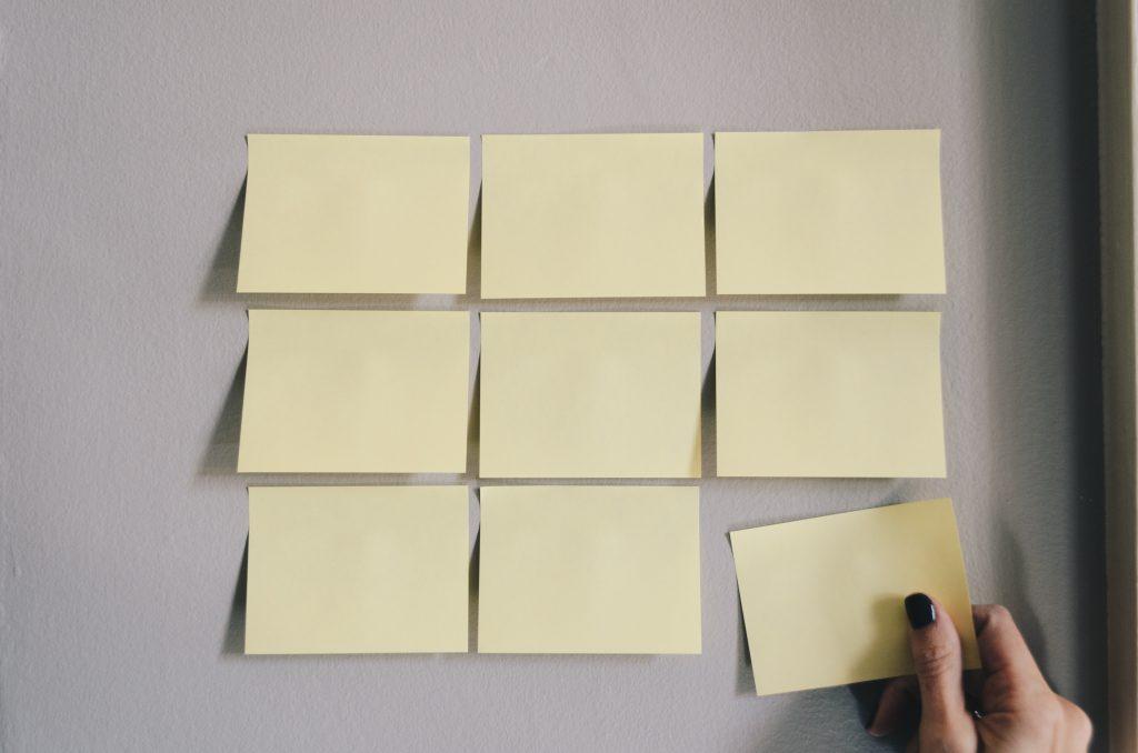 Sticky notes, delegating, tasks, communication, assertive, apartment living, downtown Winnipeg, 300 Main Apartments