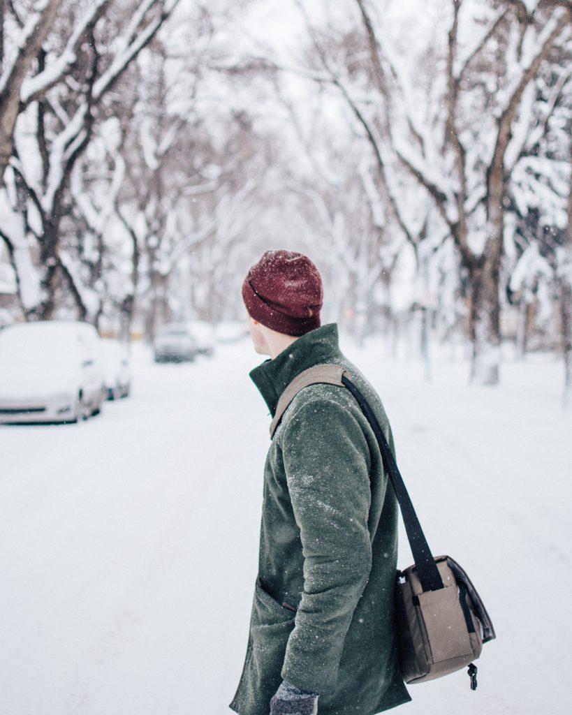 Heated Parking, Parkade, Underground Parkade, Winnipeg Square Parkade, 300 Main Downtown Winnipeg Apartments, snowy road, winter street
